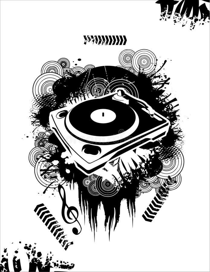 La musica DJ vector illustrazione vettoriale