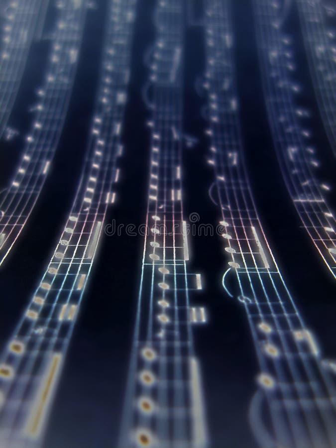 La musica nota la priorità bassa fotografia stock