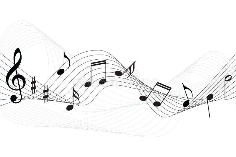La musica nota la priorità bassa illustrazione di stock