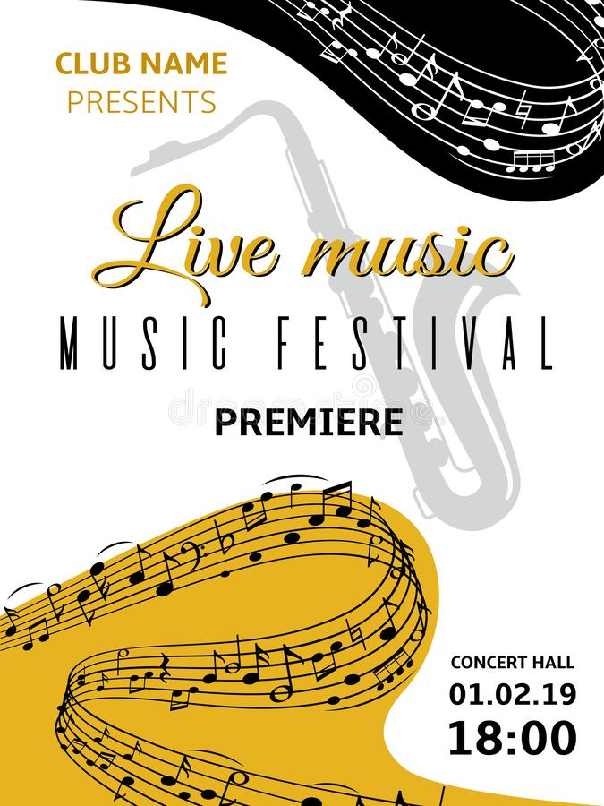 La musica nota la priorit? bassa Jazz astratto del coro di festival di musica classica della doga di armonia della chiave di trip illustrazione vettoriale