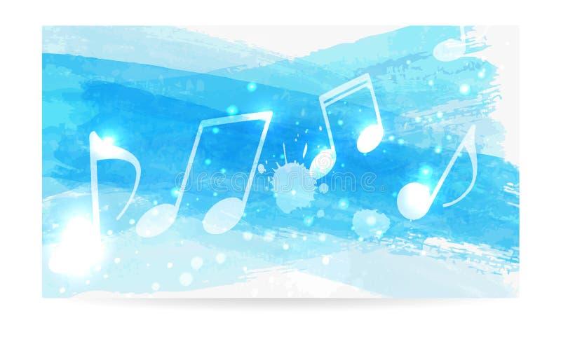La musica nota la priorit? bassa illustrazione vettoriale
