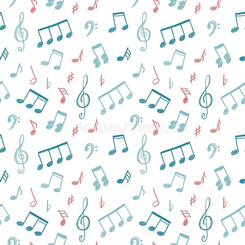 La musica nota la struttura illustrazione di stock