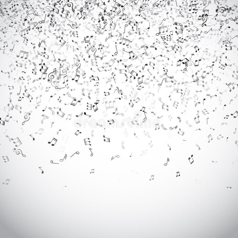 La musique abstraite note le fond illustration libre de droits