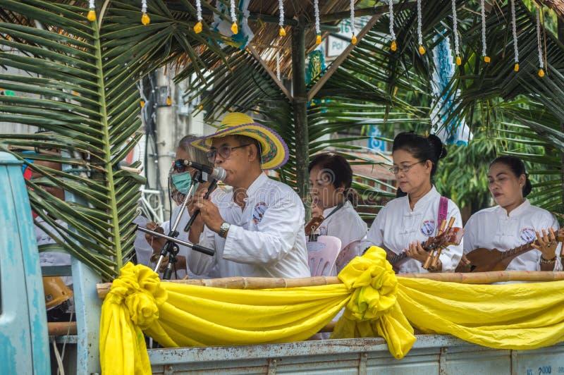 La musique de Lanna Thai Traditional réunit le défilé image libre de droits