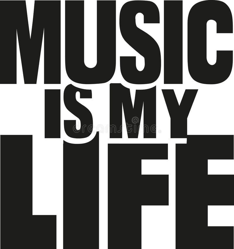La musique est ma durée illustration de vecteur