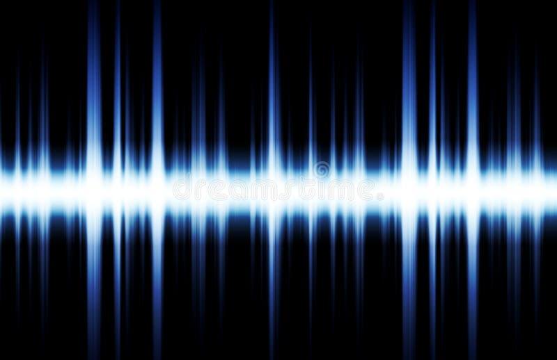 La musique a inspiré le fond abstrait du DJ illustration libre de droits