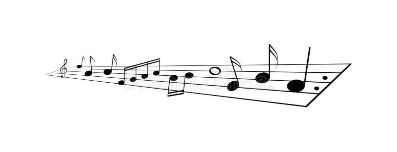 La musique note le personnel illustration de vecteur