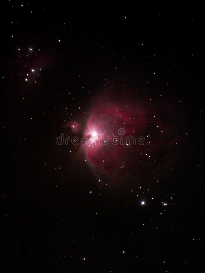 La nébuleuse grande d'Orion photo stock