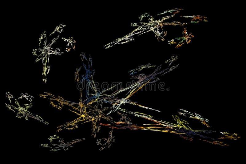 La naissance des étoiles et du x28 ; dans un world& numérique x29 ; illustration stock