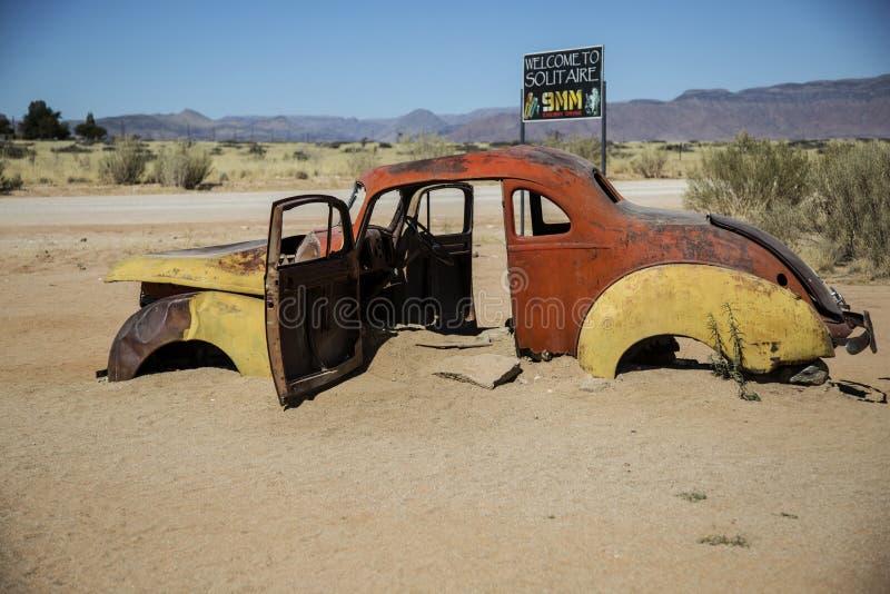 La Namibia, il solitario, benzina immagini stock libere da diritti