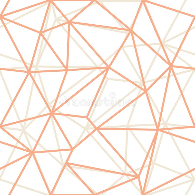 La naranja geométrica del triángulo del extracto del vector resume el fondo Conveniente para la materia textil, el papel de regal stock de ilustración