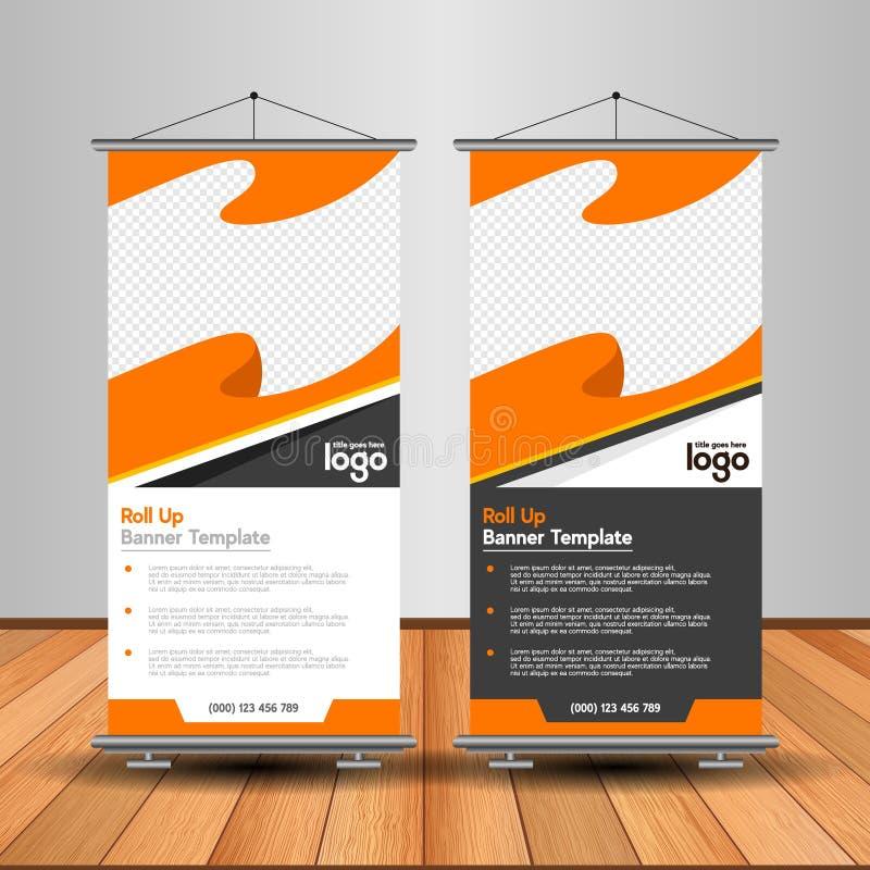 La naranja moderna rueda para arriba la bandera Publicidad de diseño de la plantilla del vector ilustración del vector
