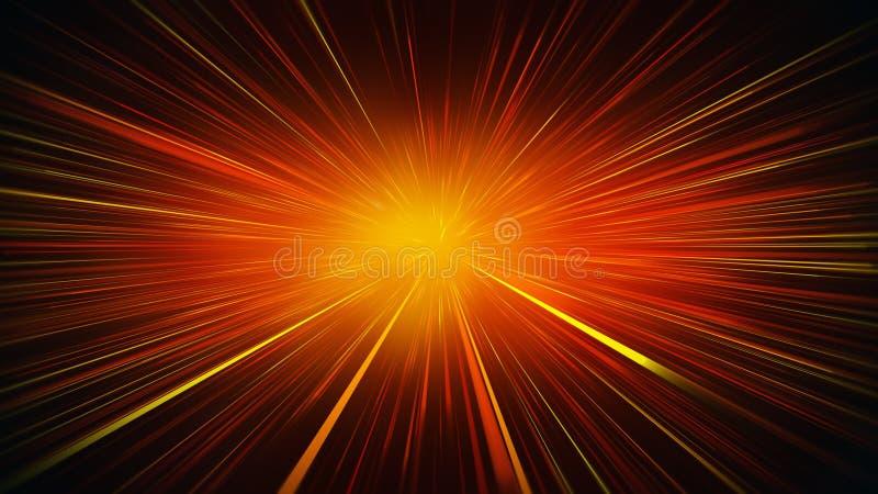 La naranja radial de la falta de definición irradia el fondo abstracto libre illustration