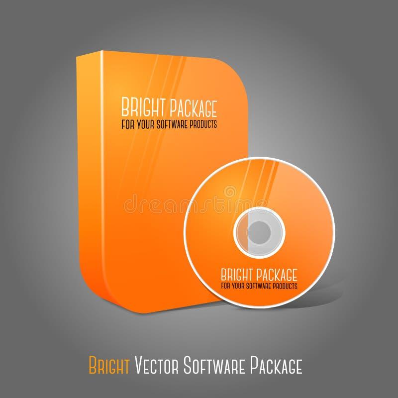 La naranja realista brillante aisló el DVD, CD, Azul-Ray ilustración del vector