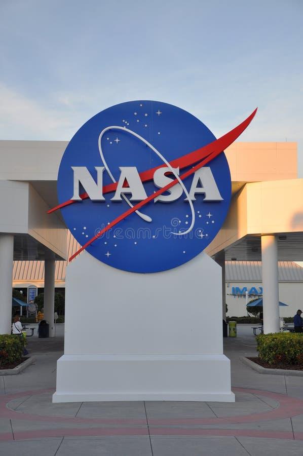 La NASA firma dentro il Centro Spaziale Kennedy fotografia stock