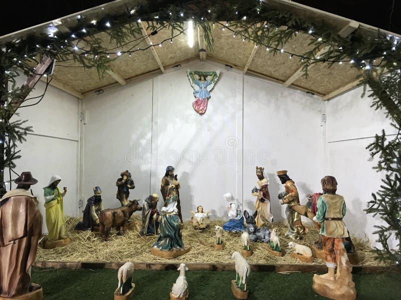 La nascita della scena di Jesus Crist immagini stock libere da diritti