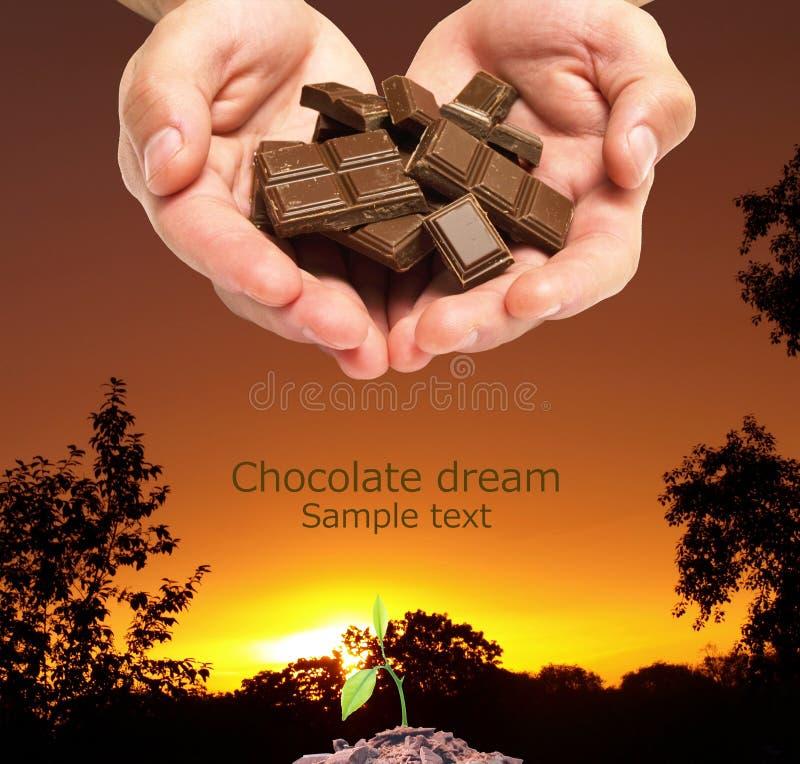 La nascita di un sogno del cioccolato fotografie stock