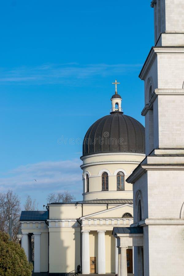 La natividad metropolitana de la catedral del señor, la catedral principal de la iglesia ortodoxa moldava en Chisinau central, el fotos de archivo