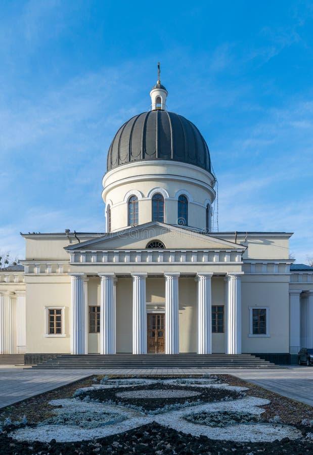 La natividad metropolitana de la catedral del señor, la catedral principal de la iglesia ortodoxa moldava en Chisinau central, el imagenes de archivo