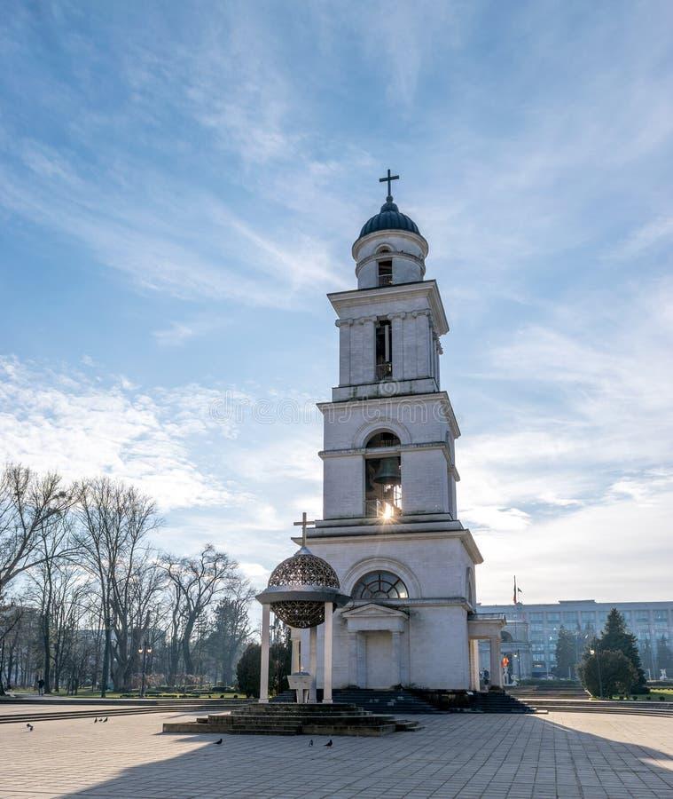 La natividad metropolitana de la catedral del señor, la catedral principal de la iglesia ortodoxa moldava en Chisinau central, el imagen de archivo