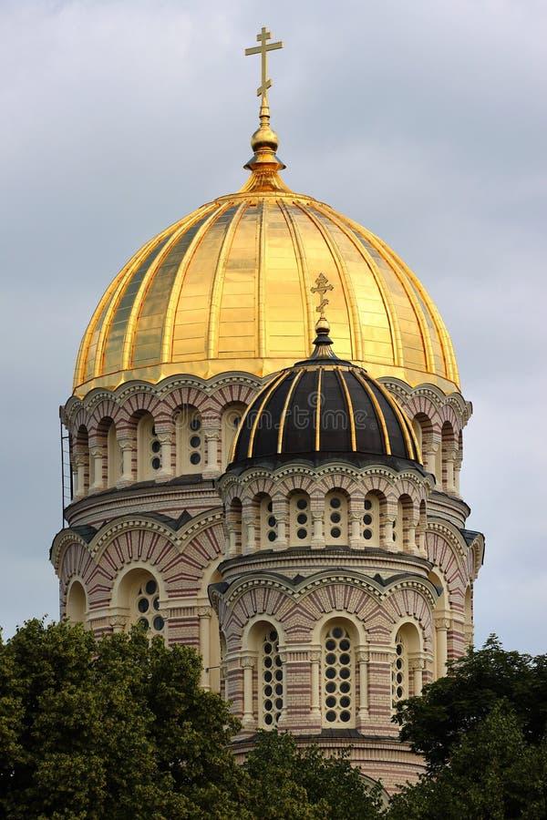 La nativité de la cathédrale du Christ à Riga, Lettonie images libres de droits