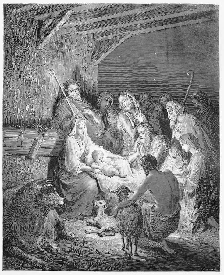 La nativité - naissance de Jésus photographie stock