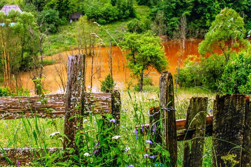 La natura è l'arte del dio La Transilvania! fotografia stock libera da diritti