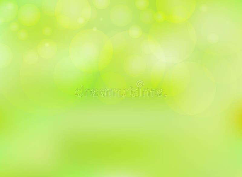 La natura astratta ha offuscato il fondo e il bokeh su fondo verde royalty illustrazione gratis