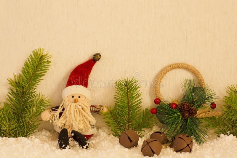 La natura morta di Natale ha Santa Claus fotografia stock libera da diritti