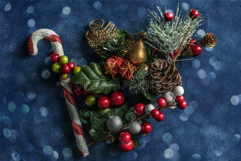 La natura morta di Natale ha strutturato il fondo immagini stock