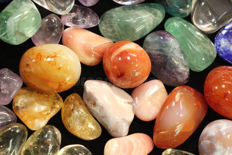 Piedras brillantes de la naturaleza del color fotos de archivo libres de regalías