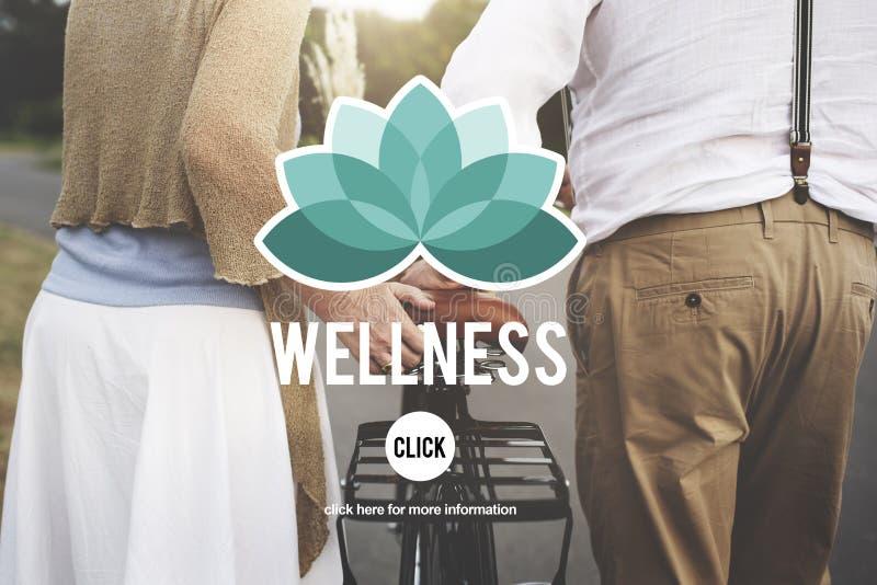 La naturaleza de la buena salud de la aptitud de la energía de la salud relaja concepto imagenes de archivo