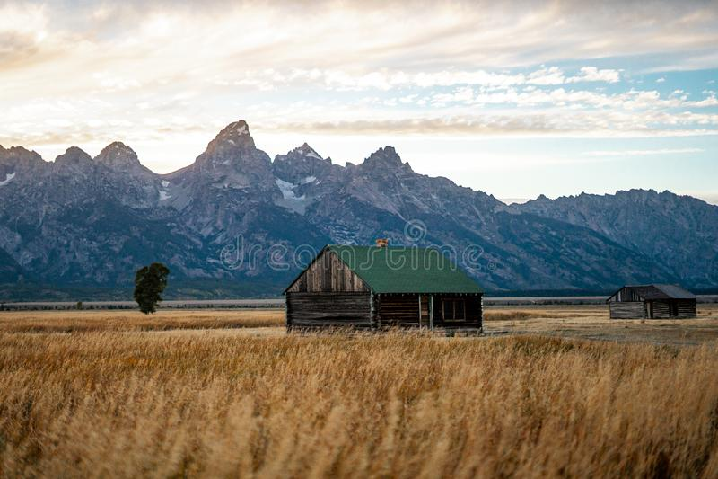 La naturaleza paisajística del parque nacional de Grand Teton cerca del parque nacional Yellowstone en Wyoming, Estados Unidos de fotografía de archivo libre de regalías