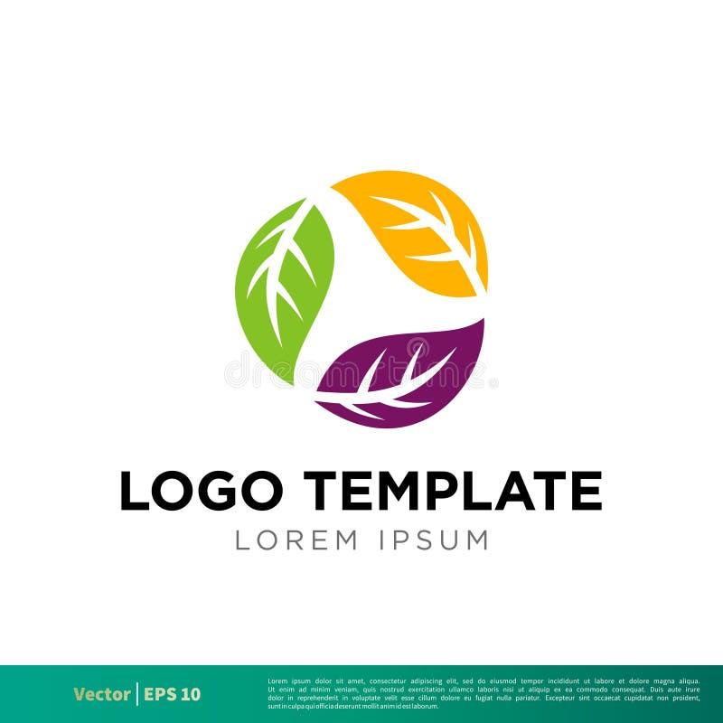 La nature colorée part du vecteur Logo Template Illustration Design d'icône Vecteur ENV 10 illustration libre de droits