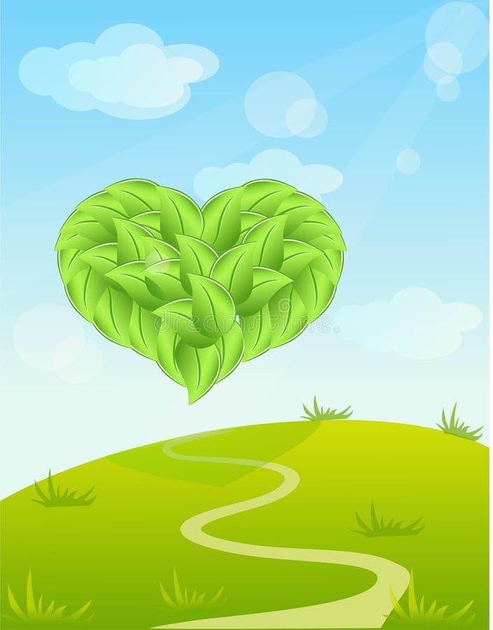 La nature du coeur illustration stock