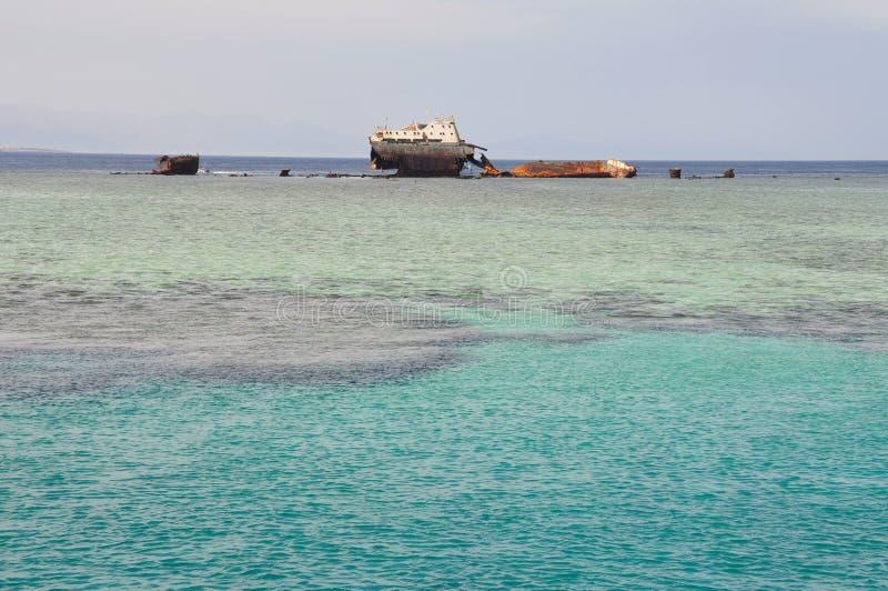 La nave affondata fotografia stock libera da diritti