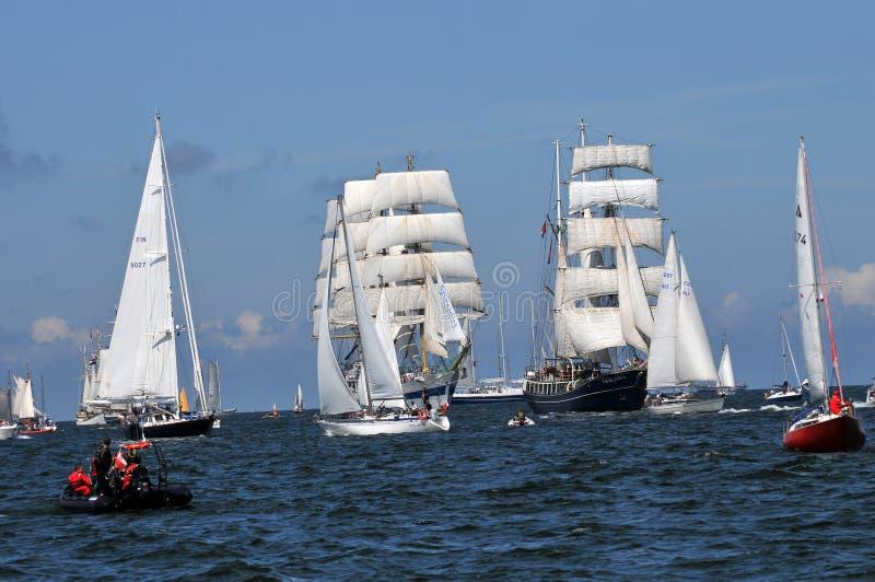 La nave alta corre 2009 fotografia stock libera da diritti