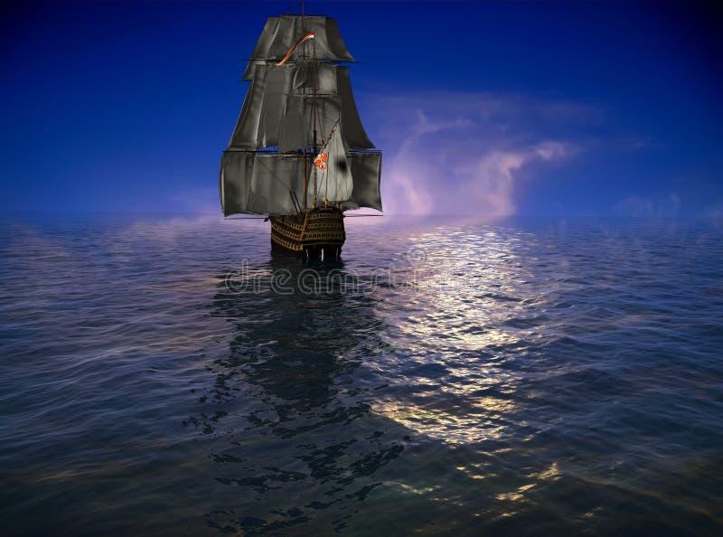Download La nave antica illustrazione di stock. Illustrazione di vela - 7310538