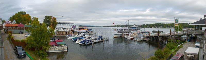 La nave da crociera del ms Mount Washington in dighe tira, il NH, U.S.A. fotografia stock
