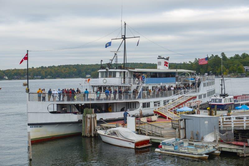 La nave da crociera del ms Mount Washington in dighe tira, il NH, U.S.A. fotografie stock