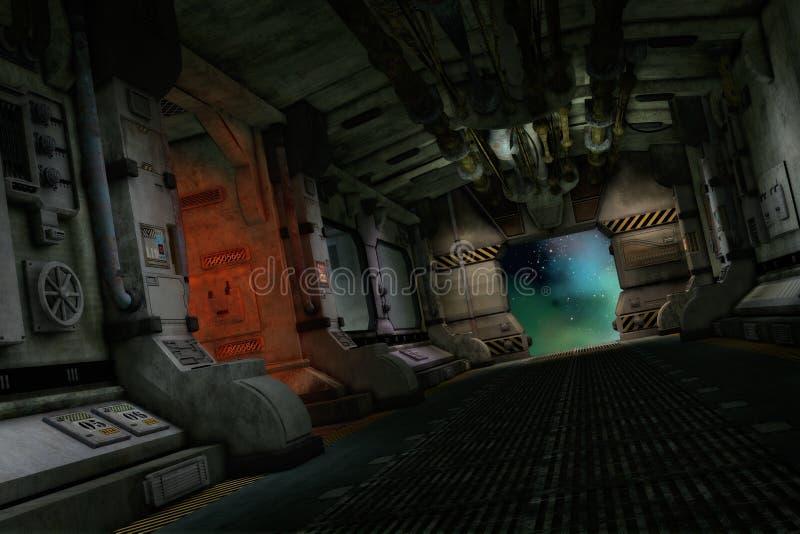 La nave del transportador, 3d CG libre illustration