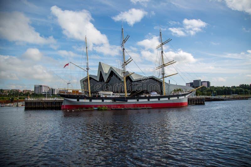 La nave di navigazione Glenlee al museo della riva del fiume a Glasgow, Scozia immagine stock libera da diritti