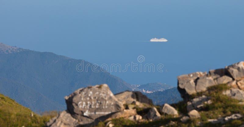 La nave mediterránea del crucero fotografía de archivo
