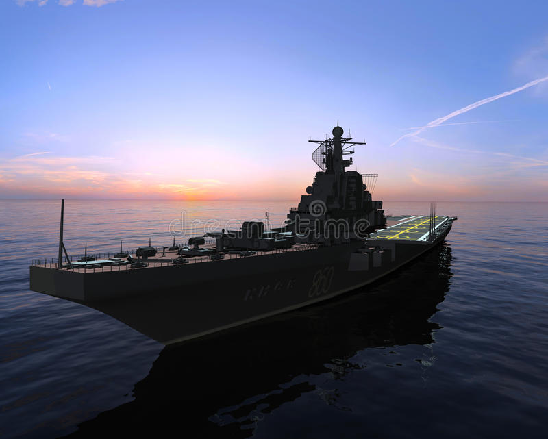 La nave militar imágenes de archivo libres de regalías