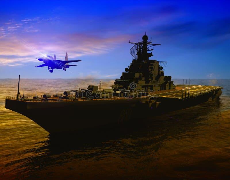 La nave militar ilustración del vector