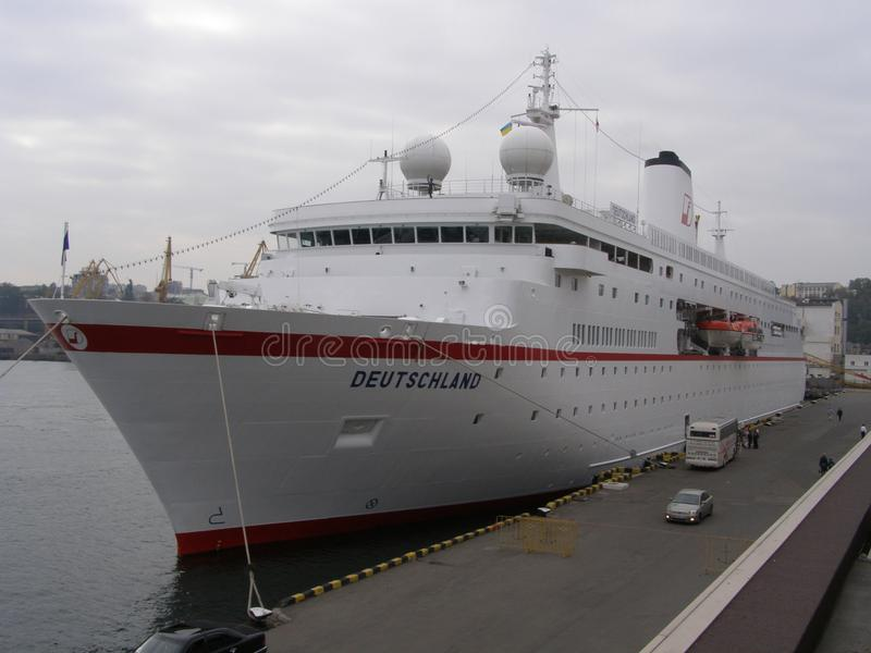 La nave a Odessa, Ucraina fotografia stock