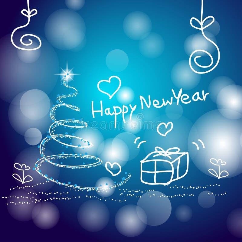 La Navidad abstracta del fondo y Feliz Año Nuevo stock de ilustración