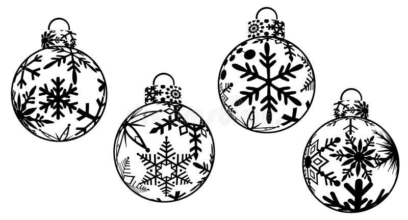 La Navidad adorna Clipart stock de ilustración