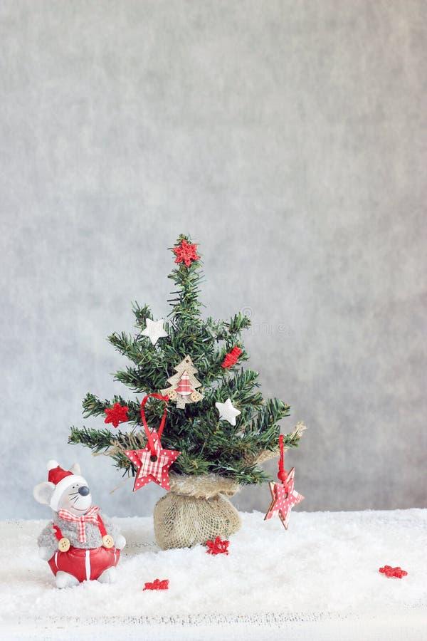 La Navidad adornada imagen de archivo