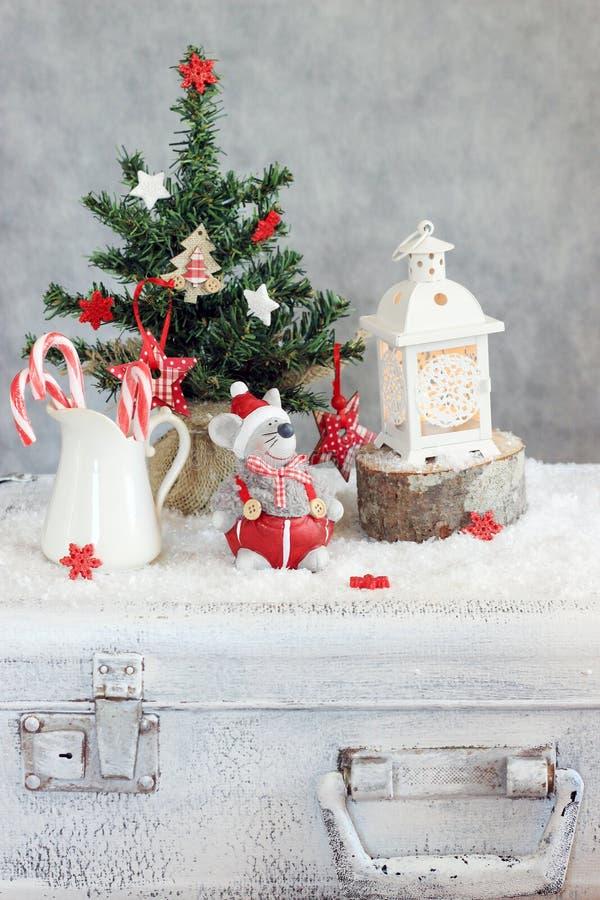 La Navidad adornada fotografía de archivo